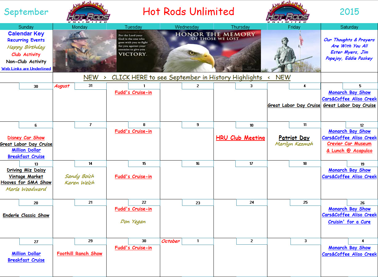click here to download the oct 2015 activities calendar or click image above note hot links work only with the excel file version in this box